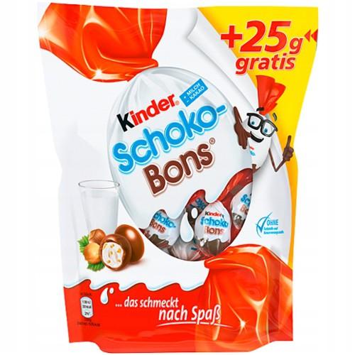 KINDER Schoko Bons 200g + 25 g GRATIS 36 sztuk!!