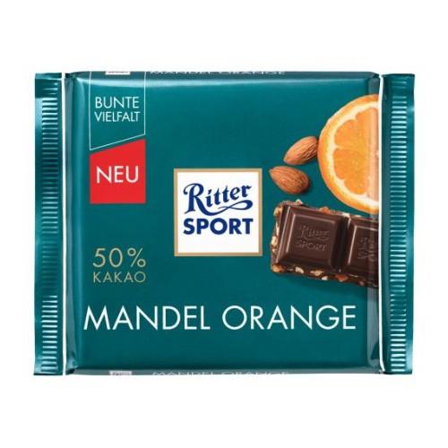 Ritter Sport Mandel Orange 100g niemiecka