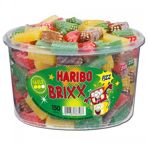 HARIBO BRIXX Sauer 150 szt/1,2 kg kwaśne cegiełki