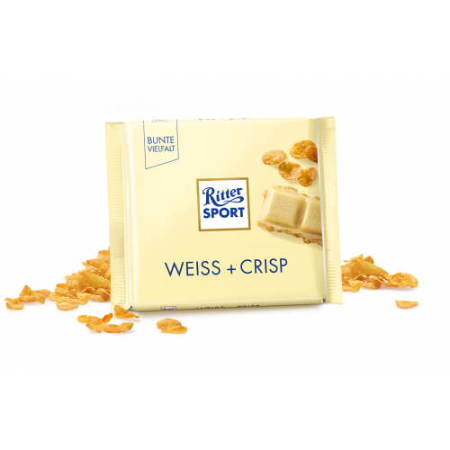 Ritter Sport Weiss + Crisp 100g niemiecka