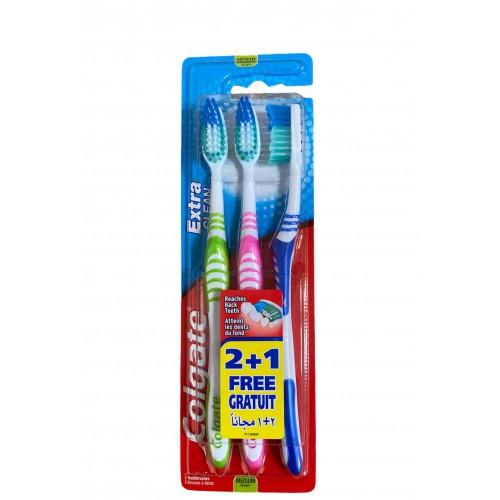 COLGATE Extra Clean szczoteczki do zębów 2+1 gratis