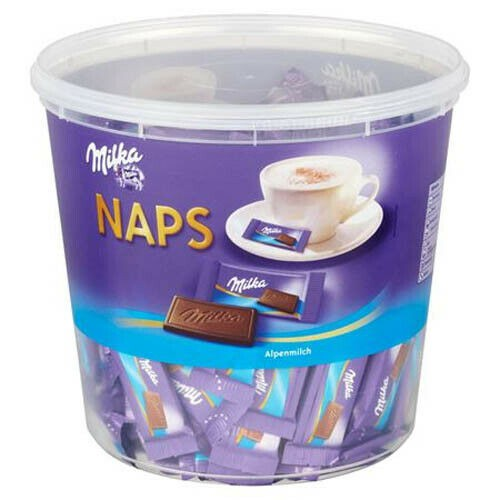 MILKA Naps Alpenmilch czekoladki 1000g 207szt