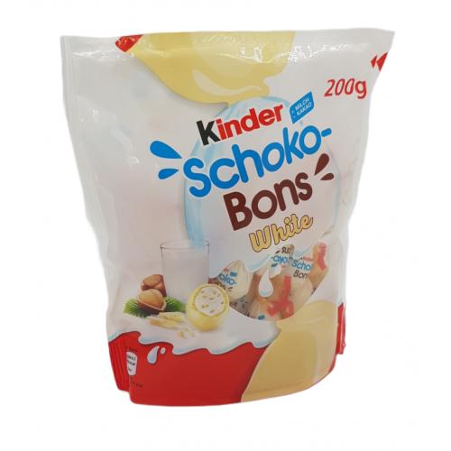 KINDER Schoko Bons White 200g, 32 sztuki