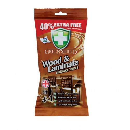 Chusteczki Green Shield Wood & LaminateSurface Wipes 70szt.