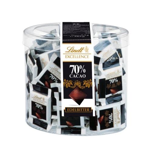 LINDT Edelbitter 70% czekoladki 70 szt 385g