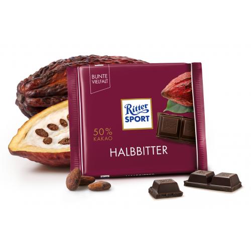 Ritter Sport Halbbitter 100g niemiecka