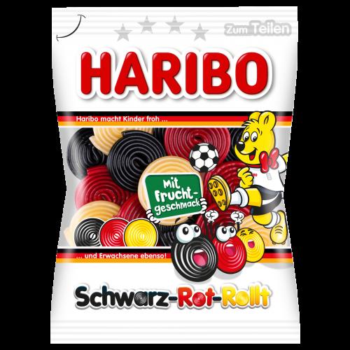 HARIBO Schwarz-Rot-Rollt 175g