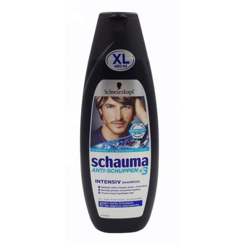 SCHAUMA 480ml  szampon męski Anti-schuppen x3