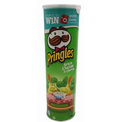 PRINGLES chipsy o smaku SOUR CREAM & ONION 200g