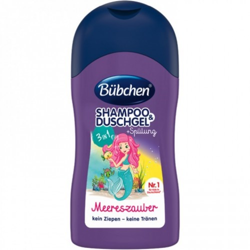 Bübchen 3w1 szampon, żel, odżywka dla dzieci 50 ml Meereszauber