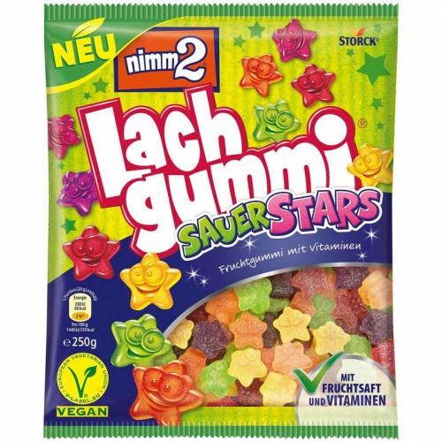NIMM2 Lach Gummi Sauer Stars 250g