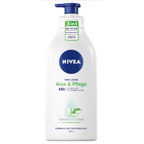 NIVEA łagodzące mleczko z aloesem DE 625ml z pompką