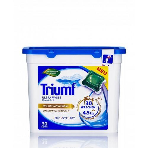 TRIUMF Ultra white 30 kapsułek do prania białego