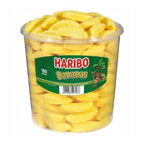 HARIBO żelki Bananas 150 sztuk 1,05 kg