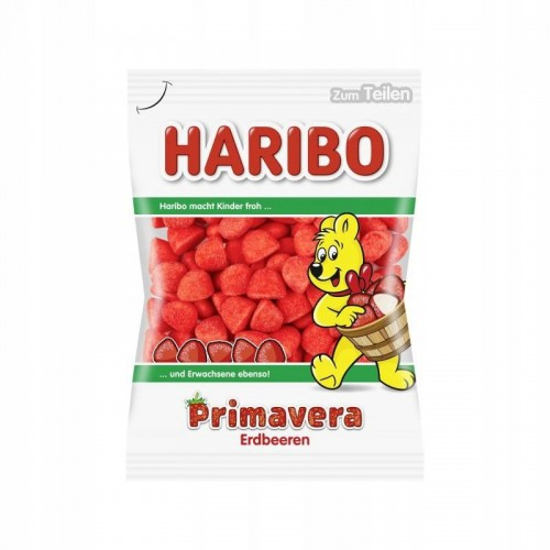 HARIBO Primavera 200g Truskawki cukrowe