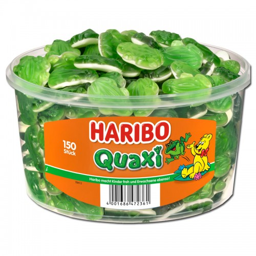 Żelki HARIBO Quaxi żabki 150 sztuk - 1050g