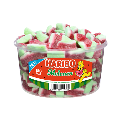 Żelki HARIBO Melonen melony 150 sztuk - 1050g