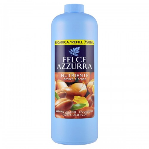 FELCE AZZURA mydło (zapas) bursztyn/argan 750ml