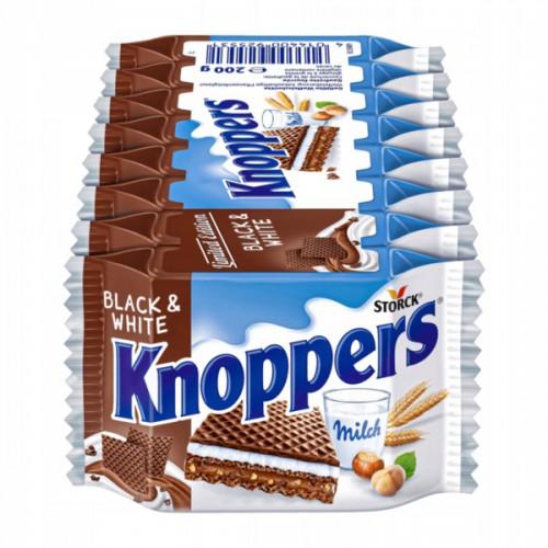 KNOPPERS wafel Black&white 8szt (200g)