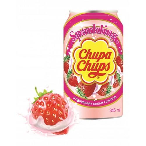 CHUPA CHUPS Gazowany napój truskawka-śmietanka