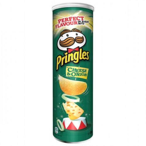 PRINGLES chipsy, smak Cheese&Onion 200g